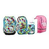 Ergobag - Schulrucksack Pack Set 6 tlg. aBär bitte mit Sahne inkl. Regenhülle Pink