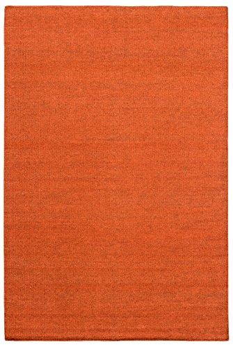 Morgenland Kelim Tapis FANCY 200 x 140 cm Kilim Orange camaïeu tissé à la main laine vierge Chambre D'Enfant Peut être utilisé des deux côtés