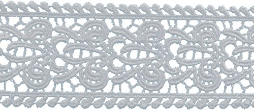 Fleur Trim (Decorative Trimmings Fleur-De-Lis Galloon Venice Lace Trim 1-7/8