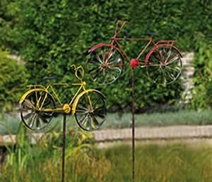 Gartendeko rotes fahrrad garten windrad bike rad garten - Gartendeko fahrrad ...