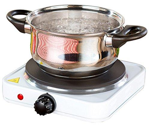 Rosenstein & Söhne Einzelkochplatte: Kompakte Elektrische Einzel-Kochplatte, 1.500 Watt, 185 mm, stufenlos (Kocher)