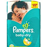 Pampers Baby Dry taille 3 large de 210 Couches