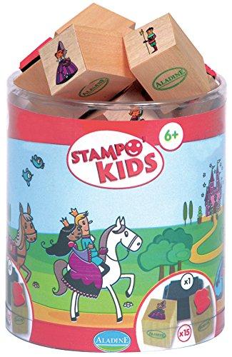 Aladine 3003348 - Stampo Kids Prinzessin, 16-teilig