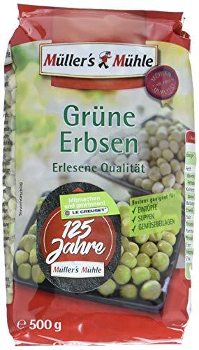 Müller´s Mühle Grüne Erbsen, 7er Pack (7 x 500 g)