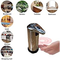 Sliwei Dispensador de jabón - Acero Inoxidable Dispensador automático de jabón Caja de champú sin Contacto