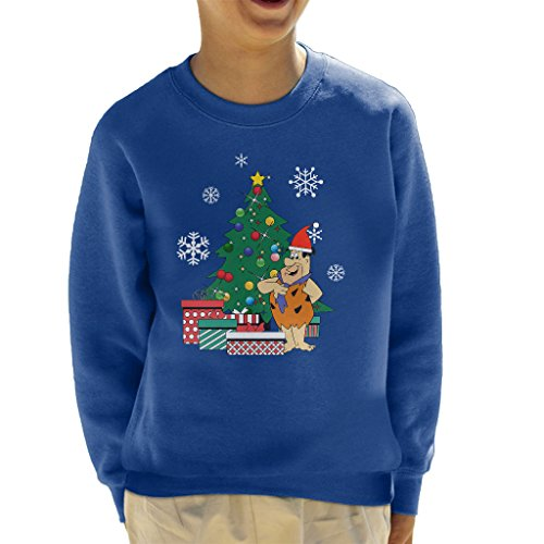 Fred Flintstone Around The Christmas Tree Kid's Sweatshirt (Flintstones Bowling)