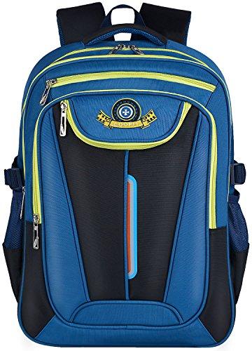 Zaini Scuola,Coofit Zaino Borsa Zaino Zainetto Zaini Scolastici Zaino Backpack Zaini per Bambini Ragazza Ragazzo (blu)