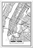 Panorama® Poster, dekorativer Druck, Karte von New York 50 x 70 cm | Gedruckt auf qualitativ hochwertigem Poster | Wandbild | Drucke zum Einrahmen oder Schenken | Dekoration für das Zuhause