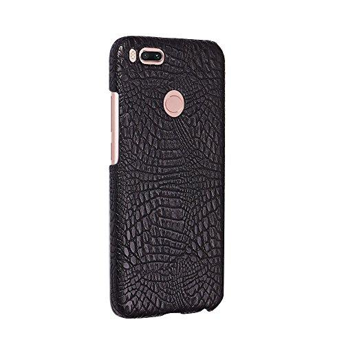 YHUISEN Xiaomi Mi 5X case, Luxus-klassisches Krokodilleder-Muster [Ultra Slim] PU-Leder Anti-Kratz-PC Schutzhülle für Xiaomi Mi Mi5X / Mi A1 ( Color : Black ) Black