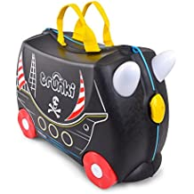 Trunki Pedro the Pirate Ship Ride and Carry On Suitcase Children's Luggage, 46 cm, 18 L, Black