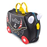 Trunki Pedro the Pirate Ship Ride On and Carry Suitcase (Black) Valigia per bambini, 46 cm, 18 liters, Nero