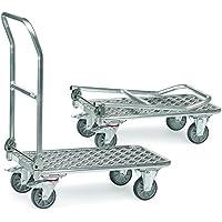 fetra Chariot pliant en aluminium, charge 150kg, 1pièce, argent/aluminium, 1133