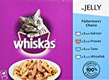 Whiskas Fisherman's Choice in Jelly 12 x 100 g (Pack of 4, Total 48 Pouches)
