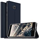 Coque Asus Zenfone 4 Selfie ZD553KL, KuGi Asus ZenFone 4 Selfie Flip Coque Premium PU Housse [Protection Complète] Couverture Multicolor avec support design pour Asus Zenfone 4 Selfie ZD553KL (Bleu)