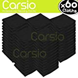 Appliances Best Deals - Carsio (x60 Pack, Black) all-Purpose Washable Microfiber Cleaning Cloths Made For: Cars, General Cleaning, Polishing, Waxing, Dusting, Domestic Appliances, Industrial use and more