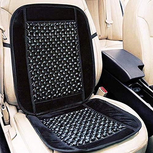 Adminitto88 cuscino della copertura del sedile auto perline di legno, cuscino estivo fresco traspirante in un unico pezzo, coprisedile in velluto cuscino del sedile posteriore universale per auto