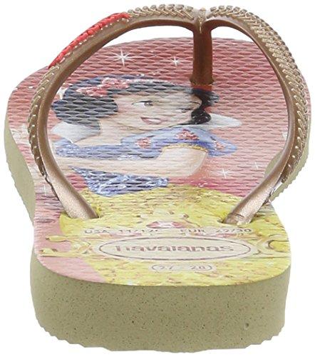 Havaianas Slim Princess, Tongs Fille Beige (sand Grey 0154)