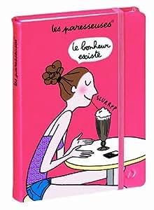 """1 Agenda Journalier Texatagenda Les Paresseuses """"bonheur"""" Sept 2014 à Sept 2015 Fermeture à élastique + 1 Marque Page Offert"""