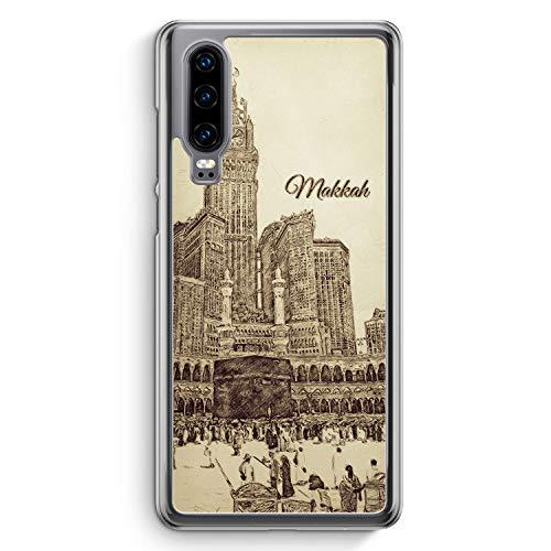 Vintage Panorama Makkah Mekka - Hülle für Huawei P30 - Motiv Design Islam Muslimisch Schön - Cover Hardcase Handyhülle Schutzhülle Case Schale