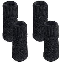 YULAN Dos Juegos de Pie Cubierta 4PCS Silla de Escritorio de Tejer Pies Almohadillas de Muebles Espesar sillas Muebles Protector de Piso (Negro)