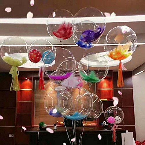 LED Ballon Licht Partei Dekoration, 18-Zoll Leuchtende Transparente Runde Leuchten Ballon LED Multi Licht für Weihnachten/Geburtstag/Cub/Hochzeit und Party (nicht enthalten Batterie und Helium) (Multi-seil-leuchten)