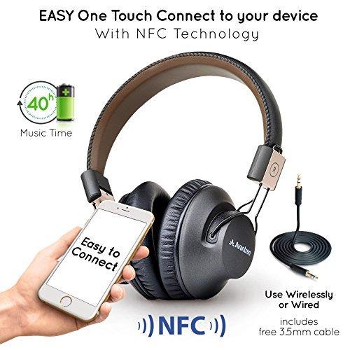 Avantree 40 horas Auriculares Inalambricos TV, Over Ear Bluetooth Diadema Auriculares con...