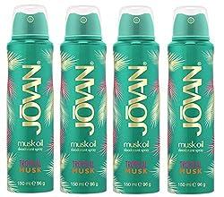 Jovan Tropical Musk Deodorant Women Boday Spray Set of 4