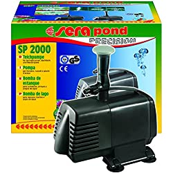sera 30059 pond SP 2000 Teichpumpe (2.470 l/h bei 98 Watt mit Hmax: 3,6 m) für kleine Filtersysteme und Springbrunnen geeignet