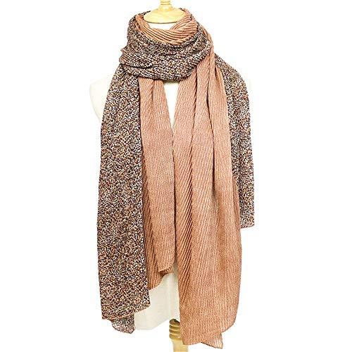 HNLYYL Fashion Leopard Plissee Schal Weiblichen Herbst Und Winter Schal Dicken Warmen Baumwollfaltenschal
