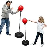 Eyepower Punching Ball réglable en Hauteur 150 cm | Poire de Boxe sur Pied | Sac de Frappe Inclus Pompe à Main | 2 modèles différents