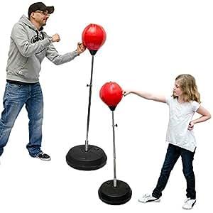 punching ball r glable en hauteur 150 cm poire de boxe sur pied sac de frappe yu 019. Black Bedroom Furniture Sets. Home Design Ideas