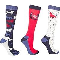 Toggi Women's Odelia Horse Design Socks (Pack of 3)