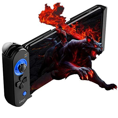 Wireless iOS Game Controller für PUBG Fotnite, Megadream Key Mapping Einziehbar Gamepad Joystick Trigger Fire Button Aim Key Controller für iPhone Xs Max, XS, XR, X - Keine Plattform benötigt