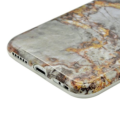 iPhone 8 Hülle, iPhone 8 Marmor Handyhülle, iPhone 8 Marble Hülle, Sunroyal Marmor Serie Flexible TPU Silikon Schutz Handy Hülle Handytasche HandyHülle Schale Case Cover Schutzhülle für Apple iPhone 7 Farbe 31