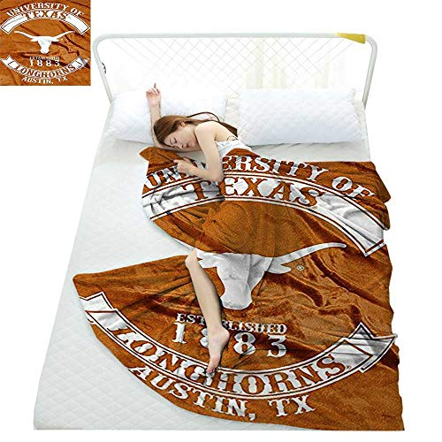 yloveme Weiche, leichte Decke Northwest COL 802 Company NCAA Texas Longhorns Rebel Raschel Decke für alle Jahreszeiten (West, Halloween North)