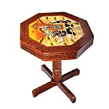 #6: Saarthi Rajasthani Handcrafted and elephant Dhola Maru design handpainted Wooden Stool cum side table, cafeteria stool (Multicolour)