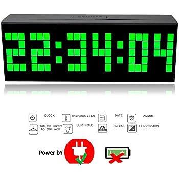 Nouveau mode Trois dimension 16,5cm Digitale réveil LED Horloge ...