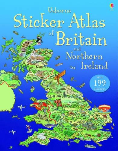 Sticker Atlas of Britain and Northern Ireland por Stephanie Turnbull