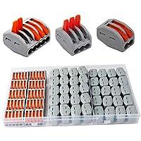 CESFONJER Terminales Conectores Reutilizables de conectores de tuercas de patillas Conectores de cables compactos de 50 piezas 2 orificios (20 piezas), 3 orificios (20 piezas), 5 orificios (10 piezas)