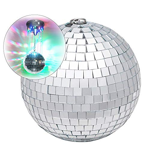 lkugel, 9,8-Zoll-Spiegelkugeln aus reflektierendem Glas, hängende Beleuchtungskugel, für DJ-Lichteffekt, Club Stage Bar Party-Weihnachtsdekoration ()