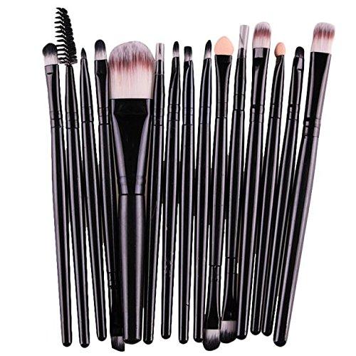 SHOBDW Pinceaux Maquillage Cosmétique Professionnel Cosmétique Brush Beauté Maquillage Brosse Makeup Brushes Cosmétique Fondation avec Sac Abordable, 15pcs Set/Kit Noir Or (Noir)