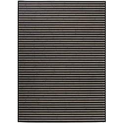 LOLAhome Alfombra de salón Moderna Negra de bambú de 180 x 250 cm Factory, 180x250