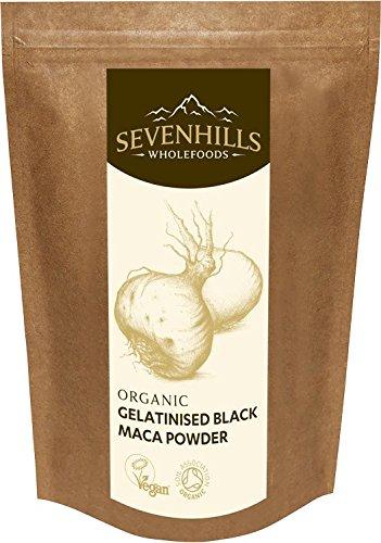 Sevenhills Wholefoods Schwarzes Maca-Pulver Gelatiniert Bio 500g
