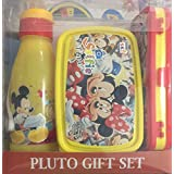 Playking SKI Pluto Gift Set Lunch Box, Water Bottle And Pencil Box For Kids - Mickey Mouse And Friends