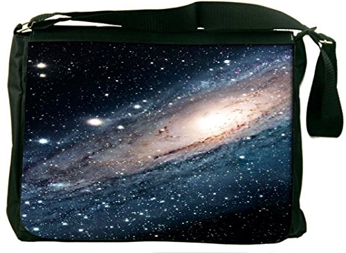 Snoogg Galaxy Pang Computer Padded Compartment Carrying Case Laptop Shoulder Messenger Bag