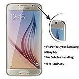 ACENIX S6Film protecteur d'écran en verre trempé, protection Crystal Clear qualité HD pour Samsung Galaxy S6, garantie à vie [Installation sans bulles]