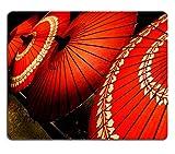 Die besten Liili Schreibtische - Mousepads Traditionelle japanische rot Schirme mit mit blumigen Bewertungen