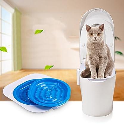UEETEK Pet Toilet Training Seat for Cats Potty Training Tray Cats Kit (Blue) 9