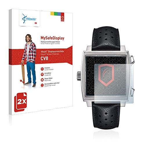 Vikuiti 2X Displayschutzfolie CV8 von 3M kompatibel mit Tag Heuer Monaco (39 mm) Schutzfolie Folie -