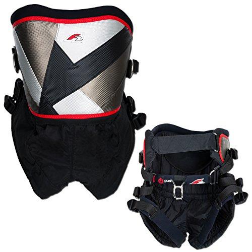 Unisex Surf Kitesurf /& Windsurfing Foil Seat Harness Schwarz Neopren-Schnallenabdeckungen Mystic Watersports Weiche Neopren-Kanten